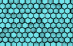 Tło błękitny 3d kształtuje z ulgą i cieniami, Obraz Stock