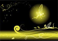tło bajka czarodziejska kwiecista Zdjęcie Royalty Free