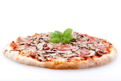 tło baleron rozrasta się pizza biel Zdjęcie Royalty Free