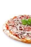 tło baleron rozrasta się pizza biel Obrazy Royalty Free