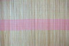 Tło bambus maty talerz, Kolorowy wzór, Bambusowa tekstura, Pusta przestrzeń bambus mata Zdjęcie Royalty Free