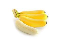 tło bananów kiście pojedynczy white Zdjęcia Royalty Free