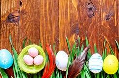 tło barwiący Easter jajek eps8 formata czerwony tulipanu wektor Fotografia Stock