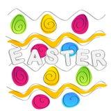 tło barwiący Easter jajek eps8 formata czerwony tulipanu wektor Tekst i egs Zdjęcia Stock