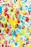 tło barwi ręki malować ilustracji