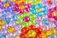 Tło barwioni koraliki, tło kwiaty robić barwioni koraliki Zdjęcie Royalty Free