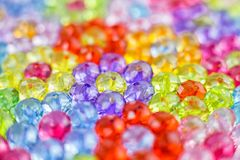 Tło barwioni koraliki, tło kwiaty robić barwioni koraliki Obraz Stock