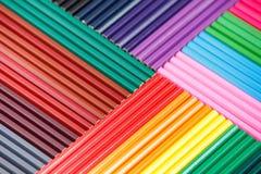 Tło barwioni ołówki dla twórczości zbliżenia obrazy royalty free