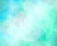 Tło Barwiony styl, zieleń i błękit z teksturą -, royalty ilustracja