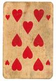 Tło bawić się serce kartę czerwień Obrazy Stock