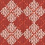 Tło bezszwowa deseniowa tekstura czerwień z beżu kwadratem zaleca się Fotografia Stock