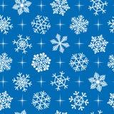 tło bezszwowi płatki śniegu Obrazy Royalty Free