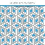 tło bezszwowy wektora Abstraktów Deseniowi trójwymiarowi kwadraty ilustracja wektor