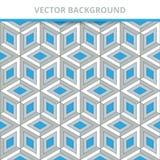 tło bezszwowy wektora Abstraktów Deseniowi trójwymiarowi kwadraty royalty ilustracja