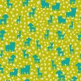tło bezszwowy wektora Sylwetki psy na wzorze od śladów ilustracji