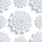 Tło bezszwowy wzór z 3d kwiatu chryzantemą Zdjęcia Royalty Free