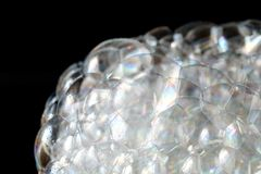 Tło biała mydlasta piankowa tekstura Szampon piana z Zdjęcie Stock
