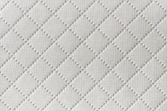 Tło biała tekstylna tekstura z diamentu wzorem Zdjęcia Royalty Free