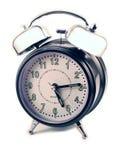 tło białe alarmowego zegara Zdjęcie Stock
