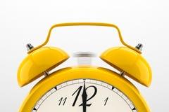 tło białe alarmowego zegara Fotografia Stock