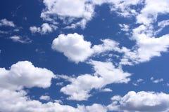 tło białe chmury Zdjęcia Royalty Free