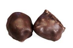 tło białe czekoladki Fotografia Stock