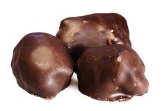 tło białe czekoladki Zdjęcie Royalty Free