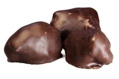 tło białe czekoladki Obraz Stock