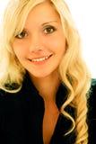 tło białe dziewczyny portret blond obraz royalty free