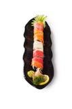 tło białe walcowane odizolowane sushi Obrazy Royalty Free