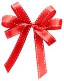 tło biel czerwony tasiemkowy Zdjęcia Royalty Free