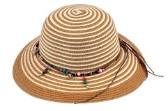tło biel kapeluszowy słomiany obrazy royalty free
