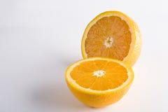 tło biel odosobniony pomarańczowy Zdjęcie Stock