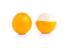 tło biel owocowy pomarańczowy obraz royalty free