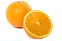 tło biel owocowy pomarańczowy Obrazy Royalty Free