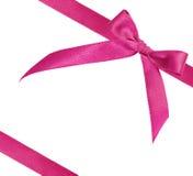 tło biel różowy tasiemkowy Obraz Royalty Free