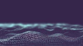 tło binarnego bliżej kod technologii informacji klawiaturowy tunel Sieć biznesu infographics ja informatyki pojęcie Obraz Stock