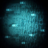 tło binarnego kodu komputerowego matrycę styl Zdjęcia Royalty Free