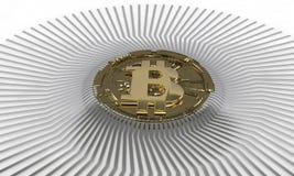 Tło bitcoin diagrama skład, 3d Zdjęcia Royalty Free