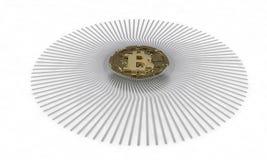 Tło bitcoin diagrama skład, 3d ilustracja wektor