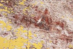 tło blakł płatkowania farby drewna kolor żółty Zdjęcie Stock