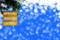 Tło boże narodzenia i nowy rok zimy Specjalna oferta Obraz Royalty Free