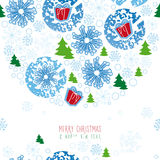 Tło, boże narodzenia, płatek śniegu Fotografia Royalty Free