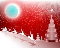 tło bożych narodzeń czerwieni drzewo Obrazy Stock