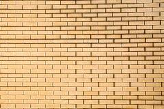 Tło brickwork jest żółty zdjęcia stock