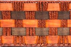 Tło brown rękodzieło wyplata tekstury powierzchnię Obraz Royalty Free