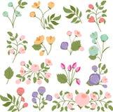 tło bukiety gręplują dekoracyjnego kwiecistego kwiatów ilustraci dwa wektor Obrazy Royalty Free