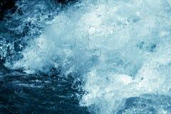 Tło burzowa błękitne wody Obraz Royalty Free