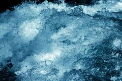 Tło burzowa błękitne wody Zdjęcia Royalty Free