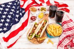 tło być prześladowanym fasta food gorącej etykietki starego papierowego rocznika Zdjęcia Royalty Free